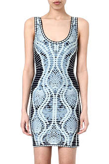 HERVE LEGER Graphic jersey dress