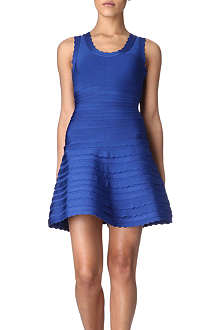 HERVE LEGER Skirted bandage dress