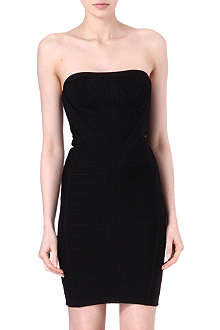 HERVE LEGER Kabele strapless dress
