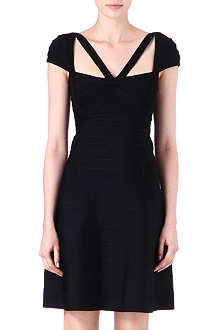 HERVE LEGER Cap-sleeved dress
