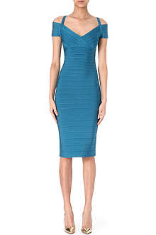 HERVE LEGER Off-the-shoulder dress