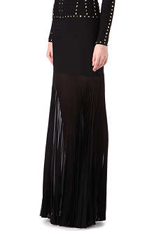 HERVE LEGER Full-length pleated skirt