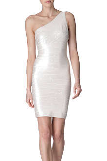 HERVE LEGER Pauline sequinned dress