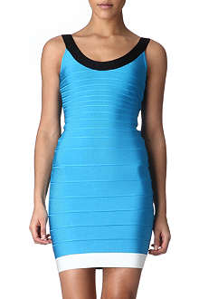 HERVE LEGER Contrast bandage dress