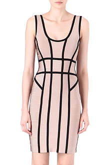 HERVE LEGER Contrast-trim dress