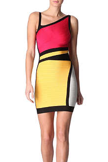 HERVE LEGER Panelled bandage dress