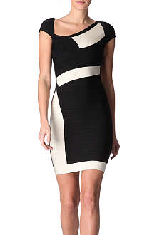 HERVE LEGER Colour-block dress
