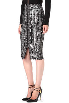 HERVE LEGER Rocha knitted skirt