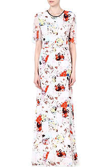 ERDEM Rosel floral silk dress