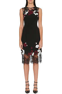 ERDEM Kent floral-lace sleeveless dress