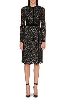 ERDEM Fitted lace midi dress
