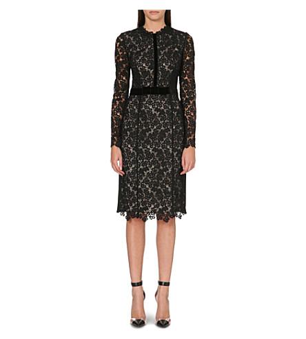ERDEM Fitted lace midi dress (Black