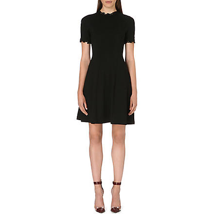 ERDEM Jarmel fit-and-flare dress (Black