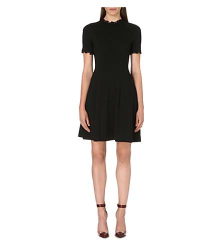 ERDEM Jarmel fit-and-flare dress (Black