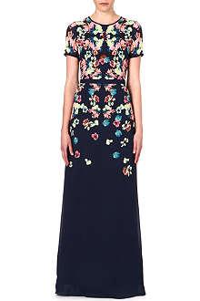 ERDEM Samira silk gown