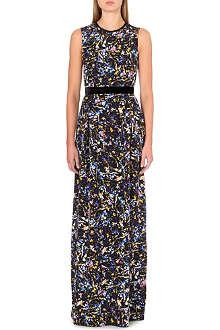 ERDEM Naema velvet-bow silk gown
