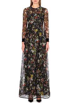 ERDEM Vernita floral-print silk gown