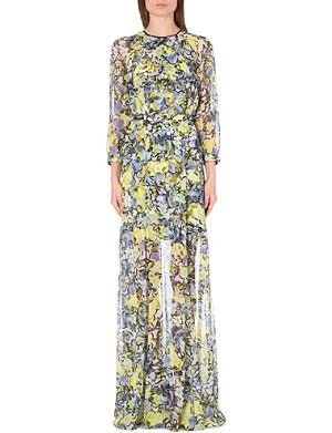 ERDEM Floral-print silk gown