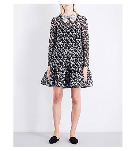 ERDEM Cosima silk-organza dress (Black