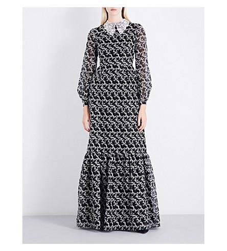 ERDEM Ora silk-organza gown (Black