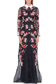 ERDEM Enosuri embroidered silk gown