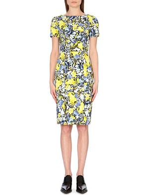 ERDEM Joyce floral-print stretch-cotton dress