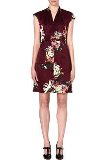 ERDEM Hanny floral-print silk-satin dress