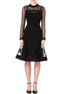 ERDEM Gladis lace and polka dot dress