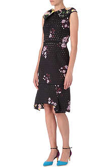 ERDEM Cabot perforated neoprene dress