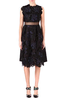 ERDEM Hallie organza feather dress