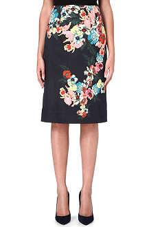 ERDEM Aysha floral-print skirt