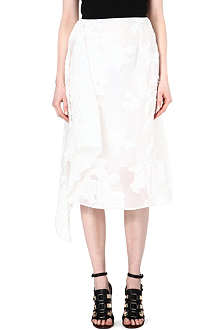 ERDEM Korben draped skirt