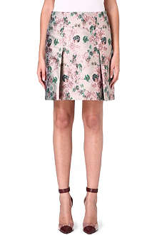 ERDEM Metallic floral-brocade skirt