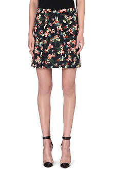ERDEM Botanical cotton-blend skirt