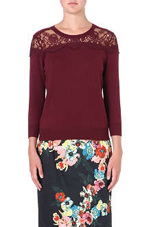 ERDEM Manon lace-panel jumper