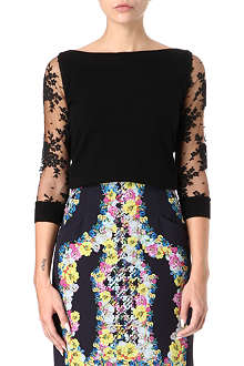 ERDEM Rose silk and cashmere-blend jumper
