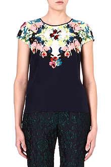 ERDEM Amanie floral-print silk top