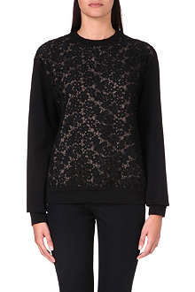 ERDEM Lace panel sweatshirt