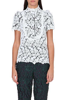 ERDEM Floral embroidered top