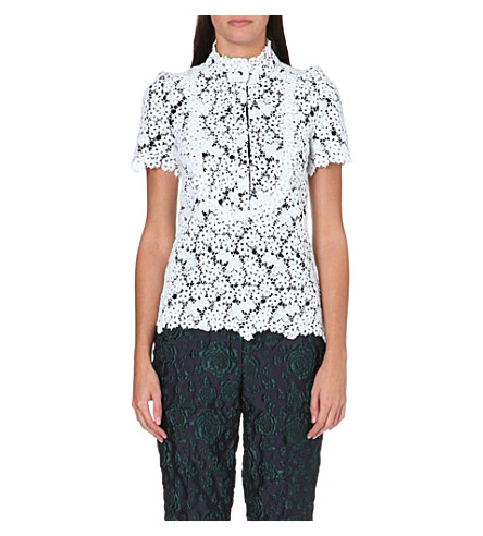 ERDEM Floral embroidered top (White
