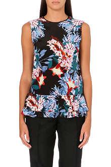 ERDEM Frine floral-print silk top