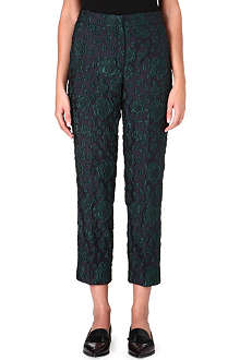 ERDEM Straight cropped jacquard trousers