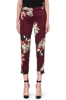 ERDEM Cigarette high-rise silk trousers