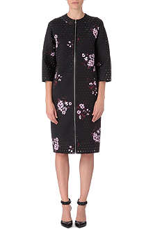 ERDEM Mae perforated neoprene coat