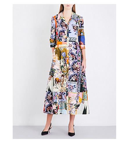 ERDEM Kasia cotton-poplin dress (Multi