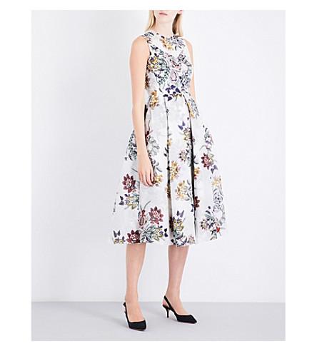 ERDEM Ailie sleeveless silk-organza jacquard dress (White/multi