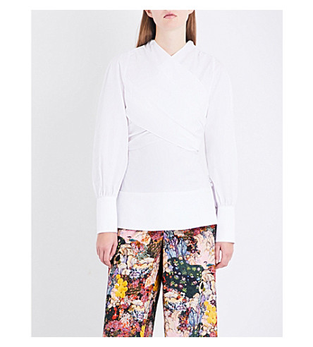 ERDEM Paloma cotton-poplin shirt (White