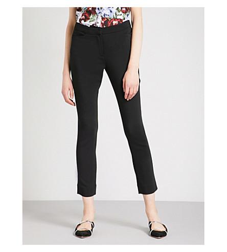 ERDEM Sidney skinny crepe trousers (Black