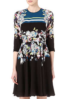 ERDEM Cowen floral-print silk dress