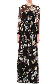 ERDEM Dan floral-print silk dress